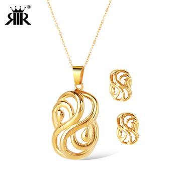 Rir Wedding 18k Gold Plated Saudi Arabia Jewelry Sets 7767e25cf2