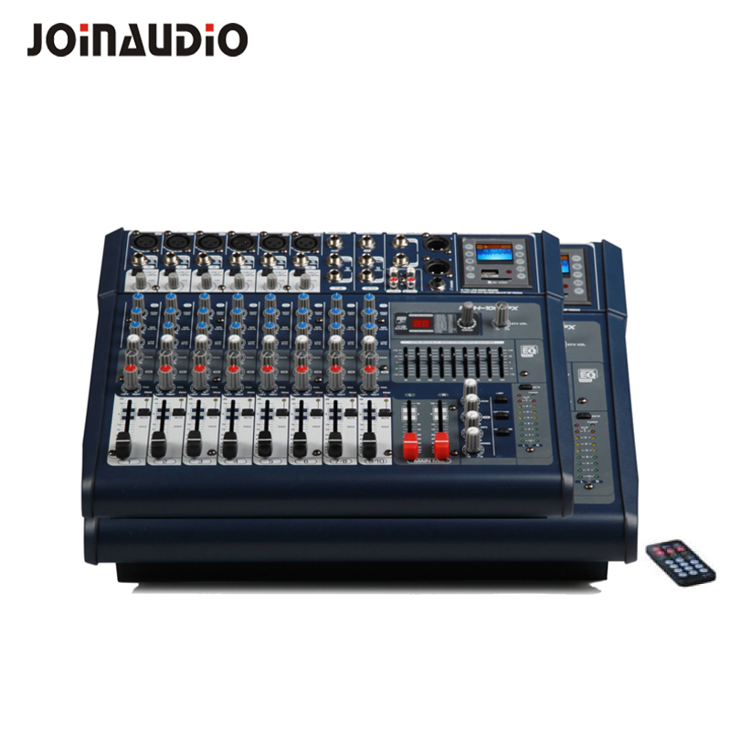 Top quality 6/8 Channel powered Audio mixing console Digital 400W*2 USB,DSP, effects DJ stage Mixer