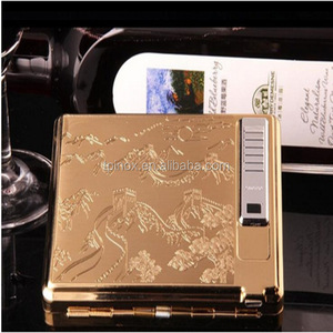 USB lighter with bling cigarette case and a mirror