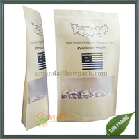Resealable snack food paper packaging bag with matte window