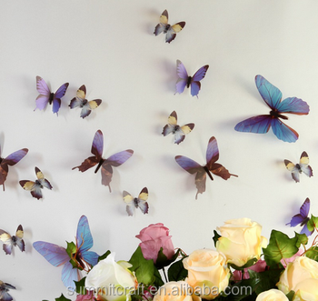 Pcs D Removable Transparent Pvc Butterfly Wall Decals - Butterfly wall decals 3d