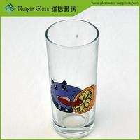 Beautiful funny wine water cup,painting on glass tumbler