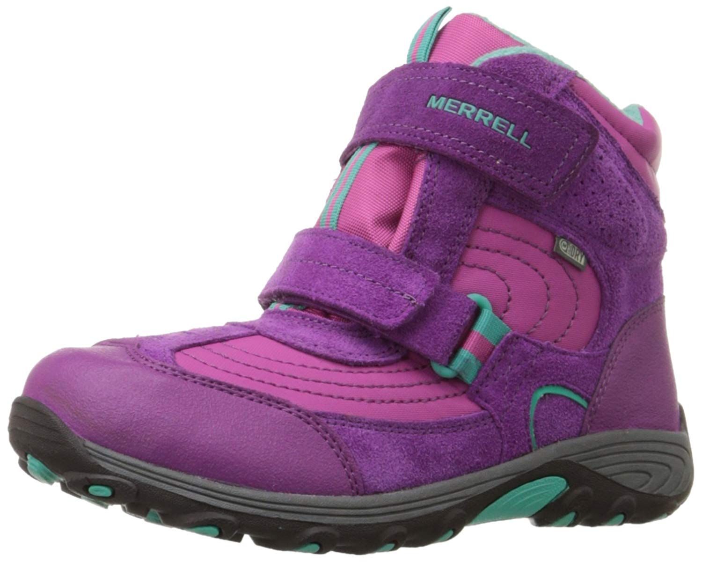 Unisex Childrens Merrell Waterproof Ankle Boots /'Moab Polar Mid Strap WTPF Kids/'