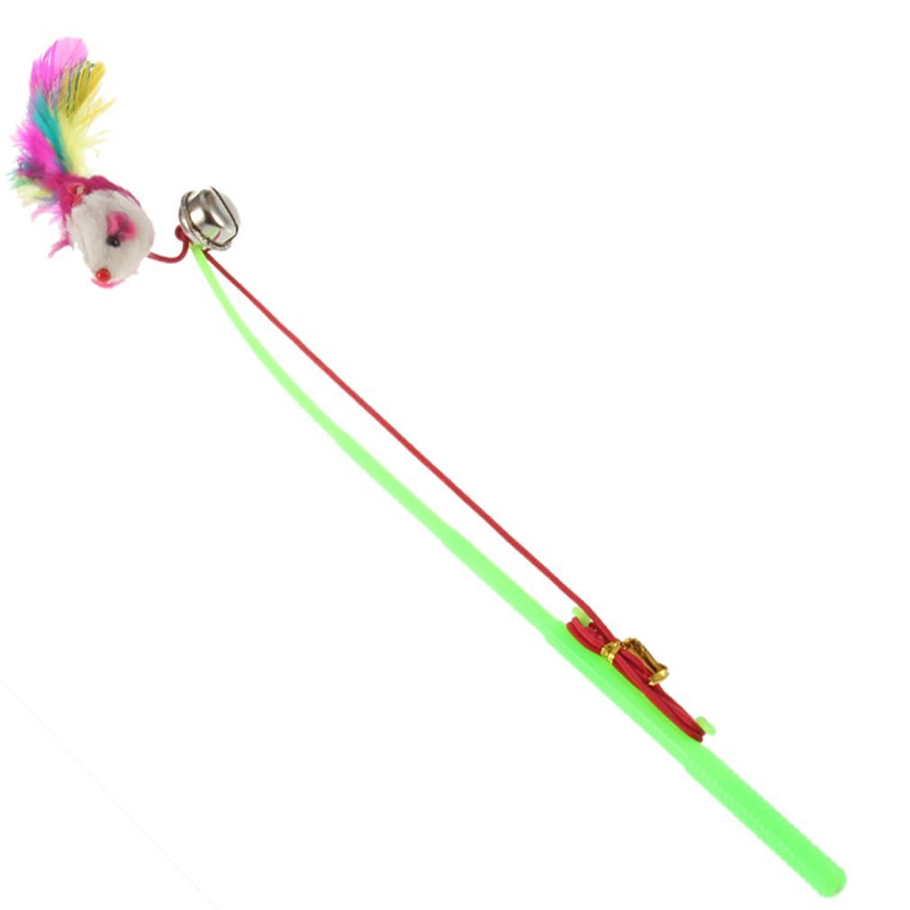Dcolor For Pet Cat Bell The Dangle Faux Mouse Rod Roped Funny Fun Play Playing Toy