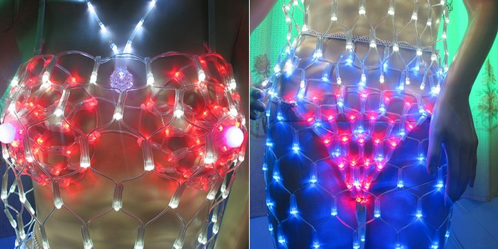 Sex Body art net lights for commercial building decoration