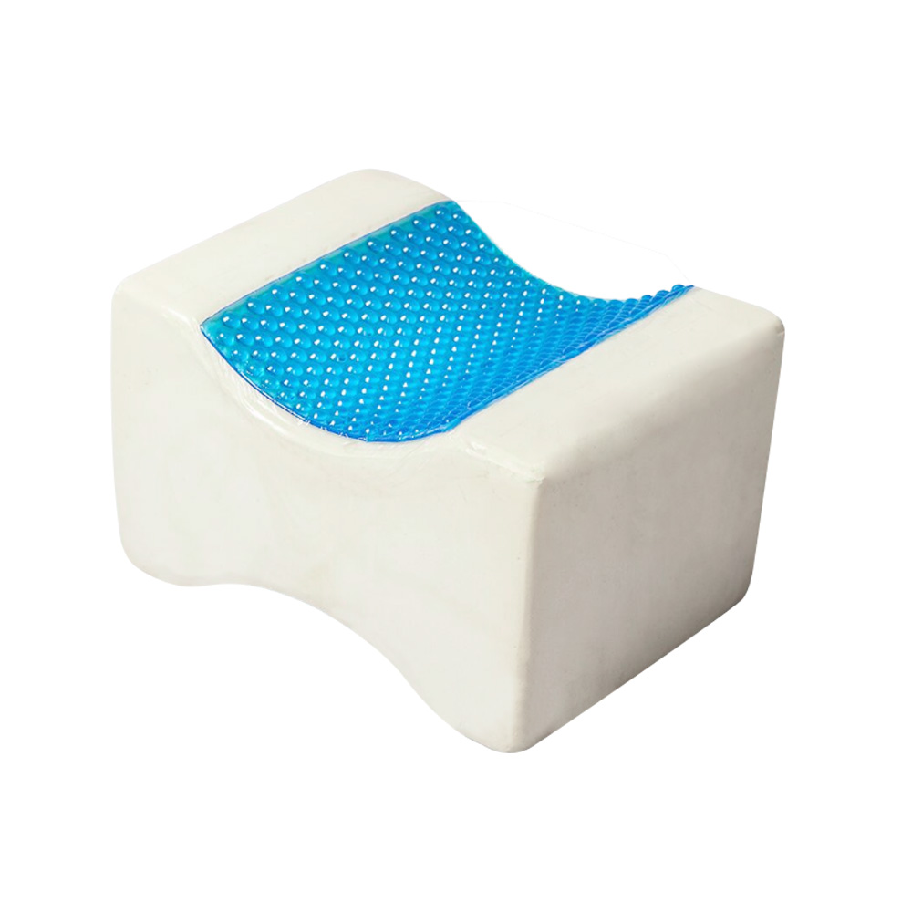 Sleeping Customized Colorful Wedge Elevation Memory Foam Cool Gel Leg Knee Cushion For Back Side Posture Sleepers