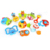 Newest hot sales 10PCS eco plastic hand animal set baby rattle toys
