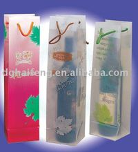 plastic bottle bag&clear plastic wine bottle bags&recycled plastic bottle tote bag