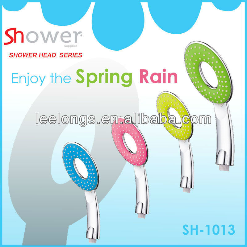 OEM Colorful Ellipse plastic oval circle hand shower