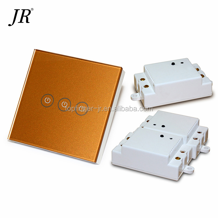 Australia Switch 1 Gang 1way Screen Wall Swtich India Wireless Touch For Home Glass Light Automation Switches
