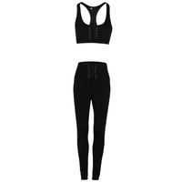 High Waist Yoga Pants Custom Fitness Sports Sets Women Athletic Clothing Workout Wear Sports Bra and Leggings suit