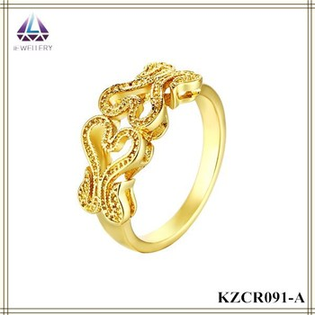 Double Heart Shape Latest Design Gold Ring Best Price Ring Buy