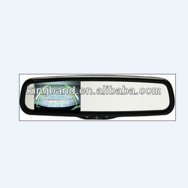 HOT SELLING!!!REARVIEW MIRROR OF PEUGEOT CAR MONITOR/PARKING NEEDED/AUTOMATICALLY DIMMING