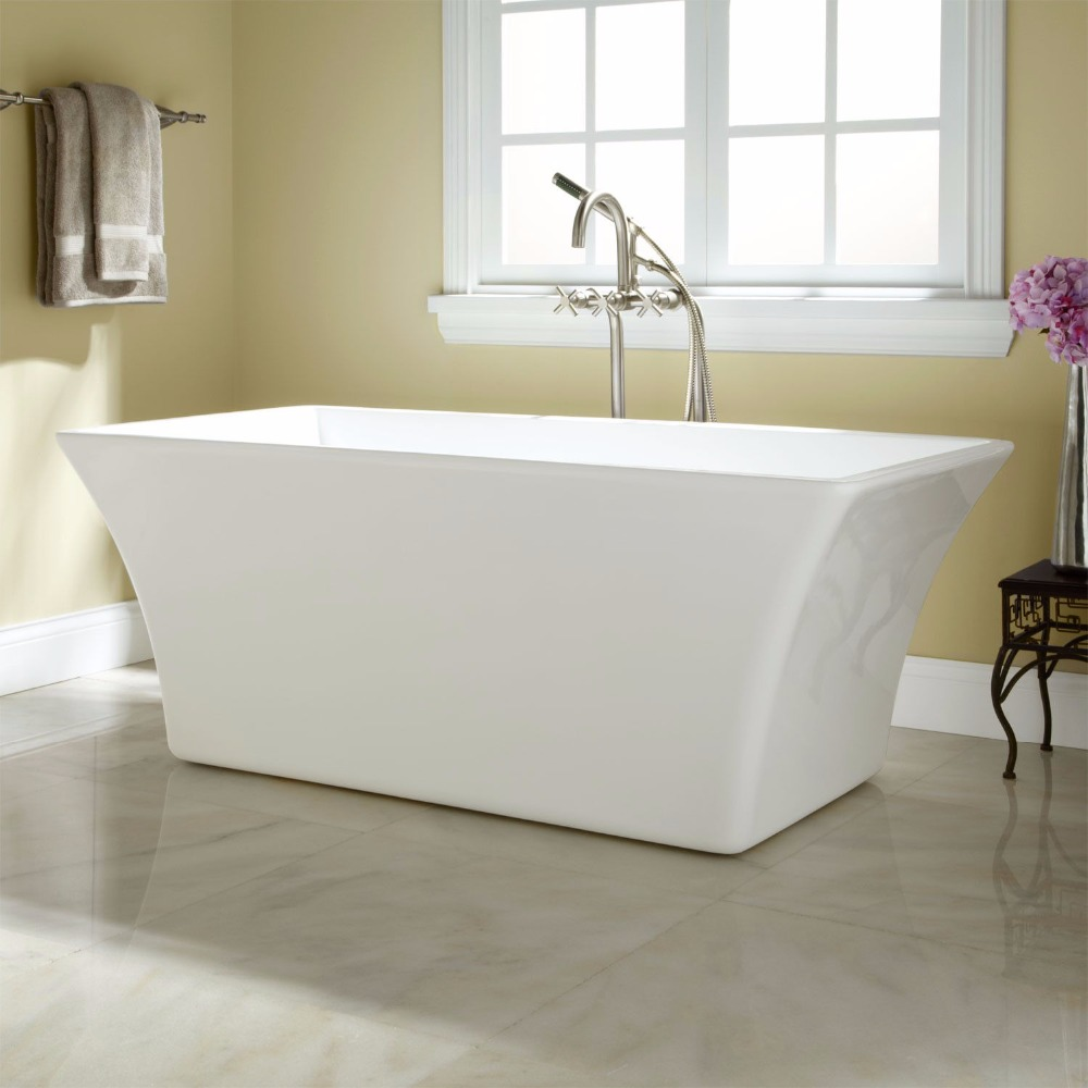 Quality Acrylic Small Deep Round free standing bath tub