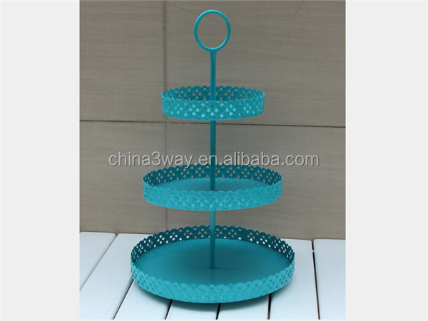 Wholesale prices super excellent quality 2 tier metal wedding cake stand directly sale