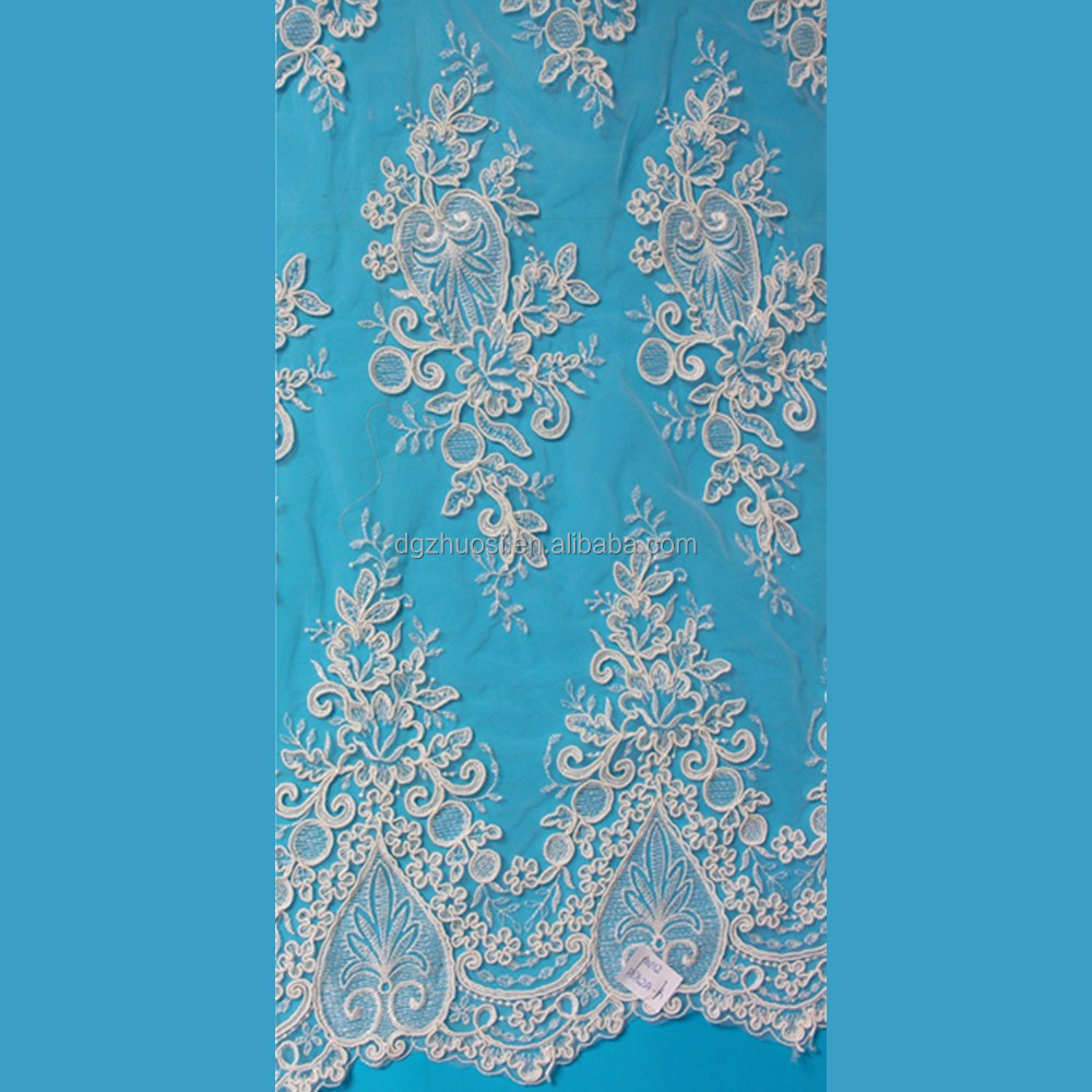 Hot sale&high quality african cord tulle lace fabric for beautiful bride