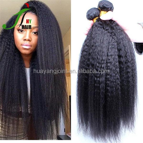 Raw Unprocessed Virgin Peruvian Hair Weave Bundles Italian Yaki Hair 10