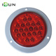 "Red 24 chps Truck 4"" Inch Round Led Trailer Light with Plug DOT SAE Emark"