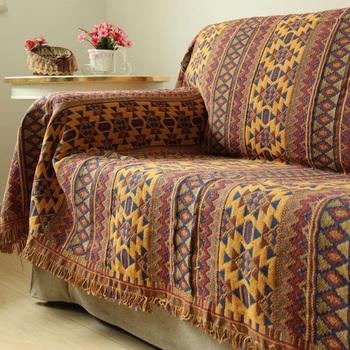 Bohemia Sofa Cover Knitting Reversible Throw Blanket Multi Design Sofa Cloth  Tassel Jacquard Cotton Blanket