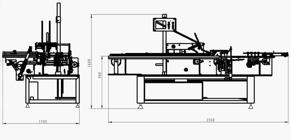 Volledige automatische voedsel kartonnen doos verpakkingsmachine productielijn fabrikanten
