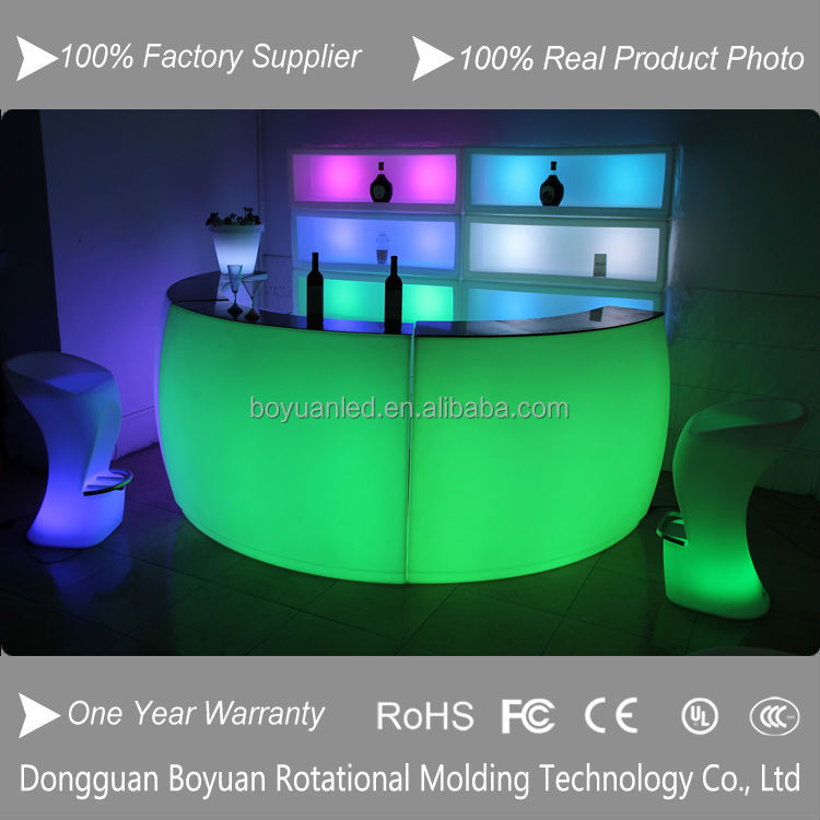 Beautiful Round Bar Table,Fantastic Led Light And Water Bubble ...