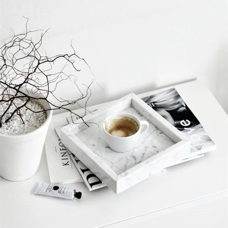 Anpassen Rechteck Marmor Tablett für Restaurant/Hotel/Home