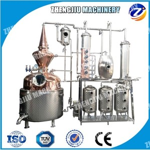 CE approved red copper distiller for whisky distillery equipment for Wine distillation