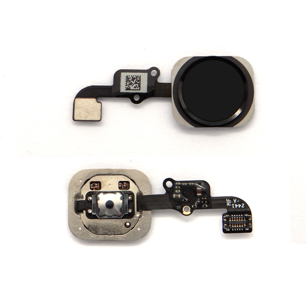"Fix Flex Key Home Button Touch ID for iPhone 6 4.7"" with rubble black"