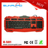 New Black red USB gaming keyboard and functions for PC laptop