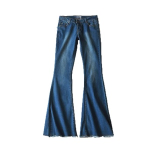 Wholesale New Women Wash Water Blue Tight Stretch Burrs Jeans Pants