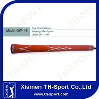 Customized Logo Orange Rubber Golf Grip