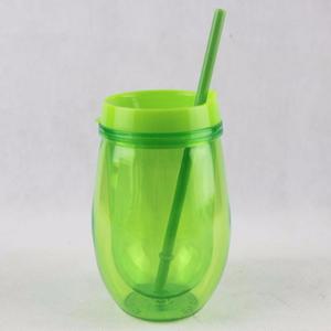 9730590c1e0 10oz Stemless Acrylic Wine Glass With Lid