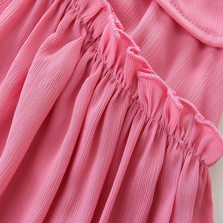 2017 foreign trade bursts European American summer skirt pink sling mother and daughter dress