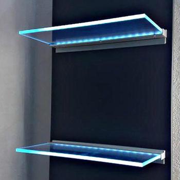 Glazen Muur Plank.Aluminium Led Licht Voor Glazen Display Plank Boekenplank Showcase Fit Voor 6 8mm Glas 12 V 3 W Rgb Kleur Veranderende Buy Verlichte Glas Plank