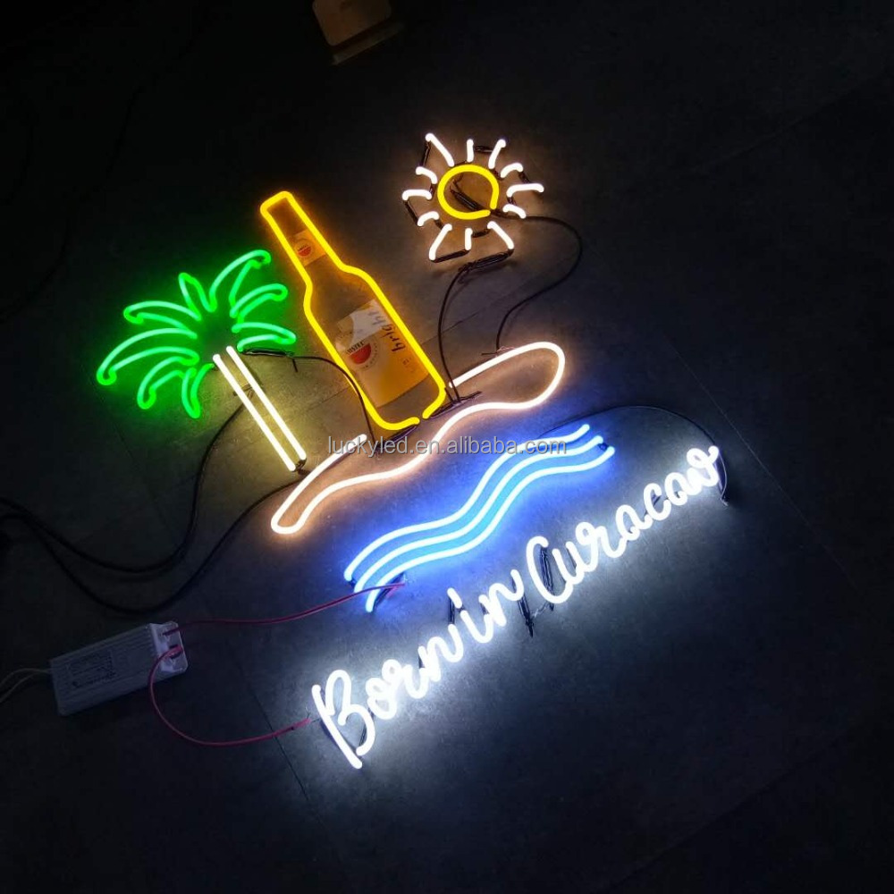 Outdoor Advertising Signs Neon For Home Bar Customized