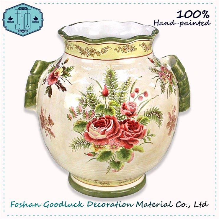 Wholesale Cheap Price Made In India Antique Big Flower Vase Design