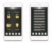 GPS GSM car alarm system with phone APP tracking for Middle East