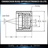 Diameter 6.33mm Focal Length 4.02mm M9*p0.5*8 Aspheric Glass ...