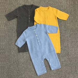 100% Cashmere Winter Baby Knitted Romper Baby Plain Romper