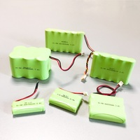 UL Certificate High Quality 1.2V 2.4V 3.6V 4.8V 6V 7.2V 9.6V 12V 14.4V Rechargeable NIMH Battery