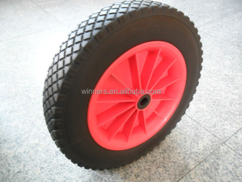 PU foam wheelbarrow wheel 4.00-6