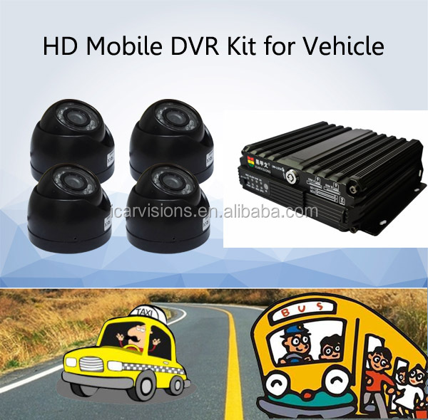 4CH Dual SD Card 4G GPS Wifi Vehicle Car DVR from original MDVR manufacturer