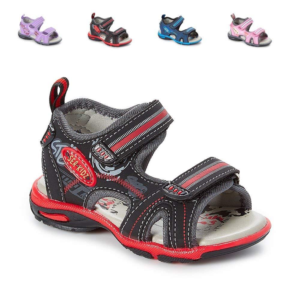 4ac1ff418 Get Quotations · Sea Kidz Kids Children Waterproof Hiking Sport Open Toe Athletic  Sandals (Toddler Little Kid