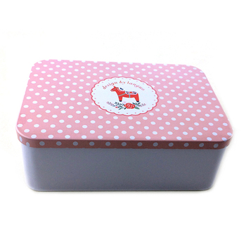 wholesale eco-friendly colorful rectangular tin box recipe box