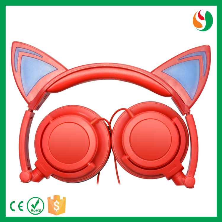 Wholesale colorful cat ear mini bh503 wireless bluetooth stereo headphone