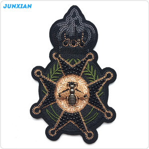 Good quality specific style wheel badge flat surface bead embroidery
