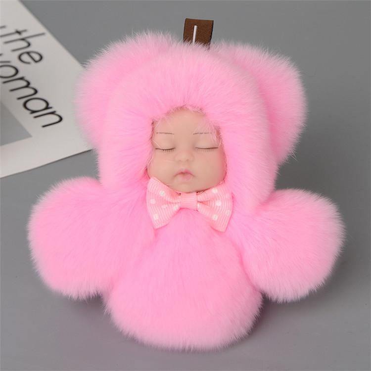 Wholesale fake rabbit fur pom poms faux fox fur pompon handbag charm fur  ball with 7ab993f7b58c4