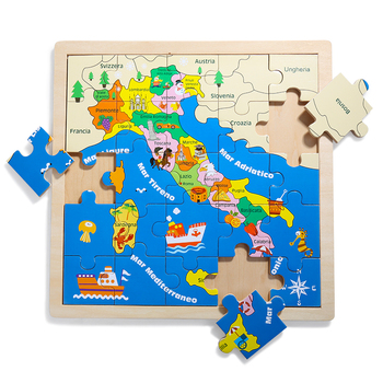 Map Of Italy For Kids.Best Selling Italy Map Wooden Jigsaw Puzzle With Different Graphics For Kids View Map Jigsaw Puzzle Top Bright Product Details From Topbright