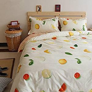 Norson Summer Fruit Pattern Bedding, Children Bedding Sets, Kids Bedding Set, Baby Bedding Set, Teen Bedding Set, Twin Full Size (Full)