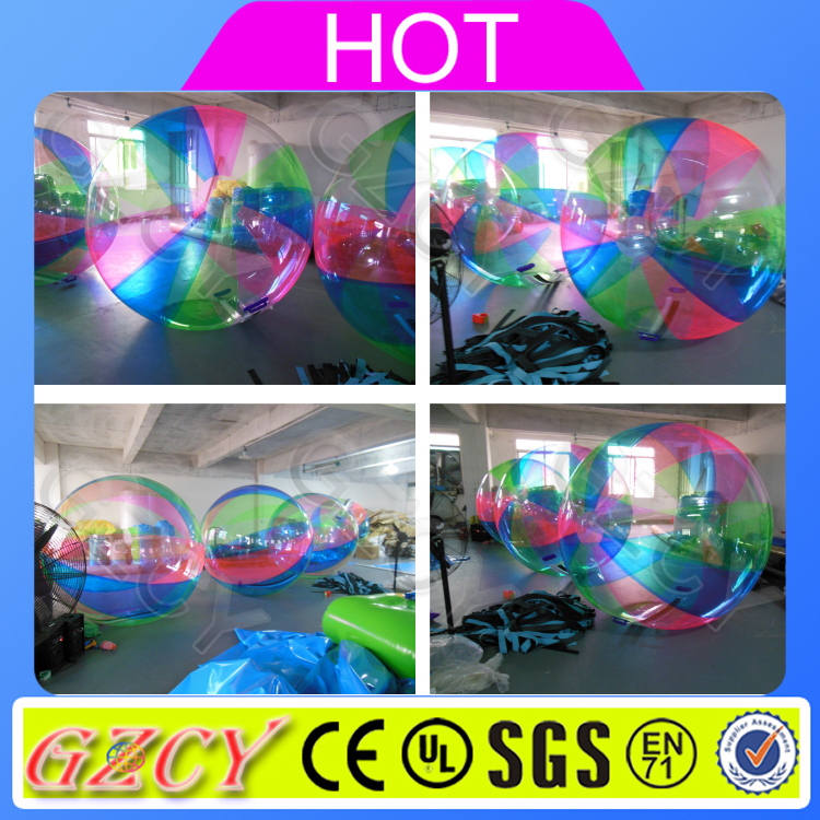 Customized design rainbow inflatable colorful walk on water balls for water games